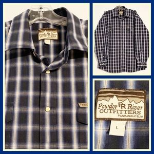 Powder River Outfitters Mens Western Snap Shirt